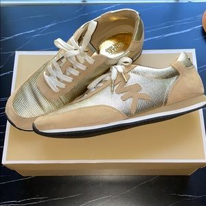 Gold Micheal Kors sneakers